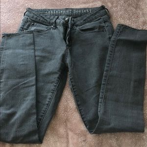 Articles of Society skinny gray jeans